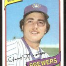 Milwaukee Brewers Jim Gantner 1980 Topps Baseball Card # 374 nr mt