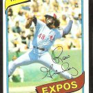 Montreal Expos Ross Grimsley 1980 Topps Baseball Card # 375 nr mt