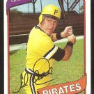 Pittsburgh Pirates Ed Ott 1980 Topps Baseball Card # 383 nr mt