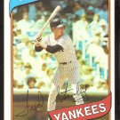New York Yankees Fred Stanley 1980 Topps Baseball Card # 387 nr mt
