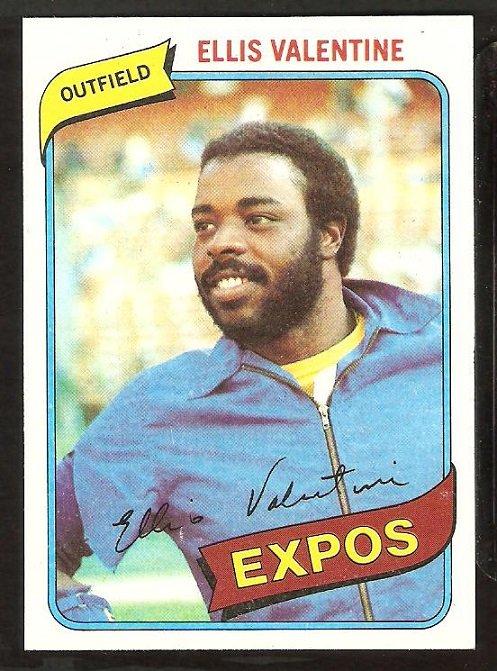 Montreal Expos Ellis Valentine 1980 Topps Baseball Card # 395 nr mt