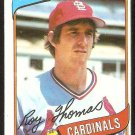 St Louis Cardinals Roy Lee Thomas 1980 Topps Baseball Card # 397 nr mt