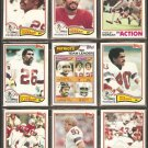 1982 Topps New England Patriots Team Lot Mike Haynes Raymond Clayborn Stanley Morgan H Jackson
