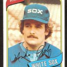 Chicago White Sox Mike Proly 1980 Topps Baseball Card # 399 nr mt