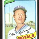 Kansas City Royals Paul Splittorff 1980 Topps Baseball Card # 409 nr mt