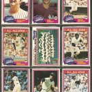 1981 Topps New York Yankees Team Lot Reggie Jackson Rich Gossage Ron Guidry Team Card G Nettles