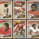 1984 Topps New England Patriots Team Lot Steve Grogan Stanley Morgan Mosi Tatupu Tony Collins