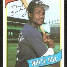 Chicago White Sox Thad Bosley 1980 Topps Baseball Card # 412 nr mt