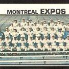 Montreal Expos Team Card 1973 Topps Baseball Card #576 vg