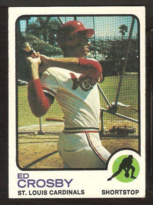 St Louis Cardinals Ed Crosby 1973 Topps Baseball Card #599 ex mt