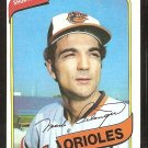 Baltimore Orioles Mark Belanger 1980 Topps Baseball Card #425 nr mt