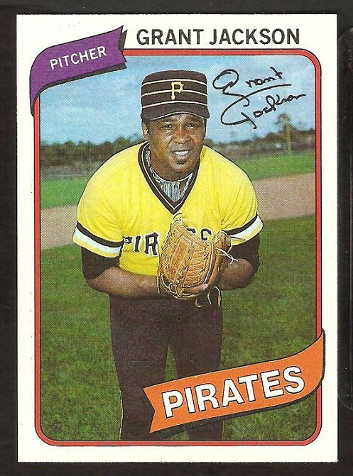 Pittsburgh Pirates Grant Jackson 1980 Topps Baseball Card #426 nr mt