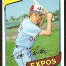 Montreal Expos Tom Hutton 1980 Topps Baseball Card #427 nr mt
