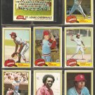 1981 Topps St Louis Cardinals Team Lot Ted Simmons Keith Hernandez Gary Templeton Team Card
