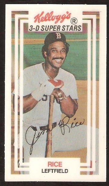 Boston Red Sox Jim Rice 1983 Kelloggs 3-D Super Stars # 13 nm/mt