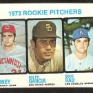 Rookie Pitchers Los Angeles Dodgers Doug Rau Cincinnati Reds Padres 1973 Topps Baseball Card #602 vg