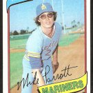 Seattle Mariners Mike Parrott 1980 Topps Baseball Card #443 nr mt