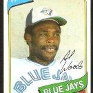 Toronto Blue Jays Alvis Woods 1980 Topps Baseball Card #444 nr mt