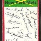 New York Mets Red Team Checklist marked 1974 Topps Baseball Card