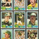1981 Topps Oakland Athletics Team Lot Dwayne Murphy Rick Langford Wayne Gross Mike Norris
