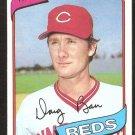 Cincinnati Reds Doug Bair 1980 Topps Baseball Card #449 nr mt