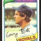 Kansas City Royals George Brett 1980 Topps Baseball Card #450 ex