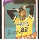 Pittsburgh Pirates Bert Blyleven 1980 Topps Baseball Card #457 nr mt