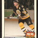 Boston Bruins Cam Neely Team Leader 1990 Topps Hockey Card # 3 ex