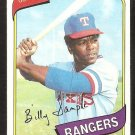 Texas Rangers Billy Sample 1980 Topps Baseball Card # 458 nr mt