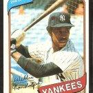 New York Yankees Willie Randolph 1980 Topps Baseball Card # 460 ex/nm