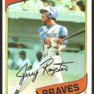 Atlanta Braves Jerry Royster 1980 Topps Baseball Card # 463 nr mt