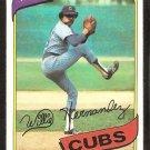 Chicago Cubs Willie Hernandez 1980 Topps Baseball Card # 472 ex mt