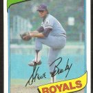 Kansas City Royals Steve Busby 1980 Topps Baseball Card # 474 nr mt