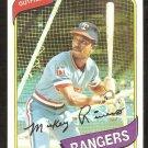 Texas Rangers Mickey Rivers 1980 Topps Baseball Card # 485 nr mt