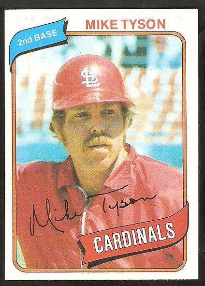 St Louis Cardinals Mike Tyson 1980 Topps Baseball Card # 486 nr mt