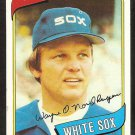 Chicago White Sox Wayne Nordhagen 1980 Topps Baseball Card # 487 nr mt