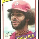 Philadelphia Phillies Bake McBride 1980 Topps Baseball Card # 495 nr mt