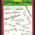 Chicago Cubs Red Team Checklist Unmarked 1974 Topps Baseball Card vg/ex