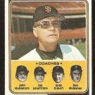 San Francisco Giants Charlie Fox and Coaches 1974 Topps Baseball Card #78 good