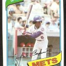 New York Mets Jose Cardenal 1980 Topps Baseball Card # 512 nr mt