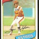 Houston Astros Tom Dixon 1980 Topps Baseball Card # 513 nr mt