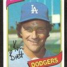 Los Angeles Dodgers Ken Brett 1980 Topps Baseball Card # 521 nr mt