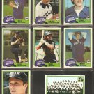 1981 Topps Chicago White Sox Team Lot Chet Lemon Team Card Rich Wortham Britt Burns Tony LaRussa