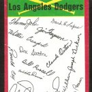 Los Angeles Dodgers Red Team Checklist 1974 Topps Baseball Card unmarked