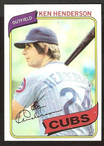 Chicago Cubs Ken Henderson 1980 Topps Baseball Card # 523 nr mt
