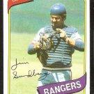 Texas Rangers Jim Sundberg 1980 Topps Baseball Card # 530 nr mt