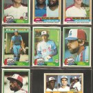 1981 Topps Montreal Expos Team Lot Tim Raines RC Andre Dawson Gary Carter Ron LeFlore Steve Rogers