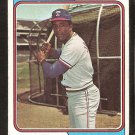 Texas Rangers Alex Johnson 1974 Topps Baseball Card # 107 vg