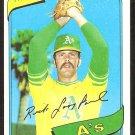 Oakland Athletics Rick Langford 1980 Topps Baseball Card # 546 nr mt