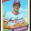 Texas Rangers Dave Rajsich 1980 Topps Baseball Card # 548 nr mt